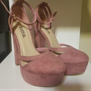 Justfab plum pink heels